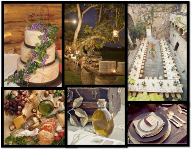 tuscany food montage