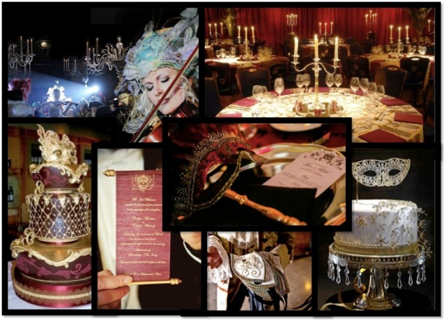 Venetian wedding reception