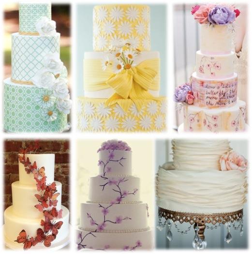 wedding cakes spring